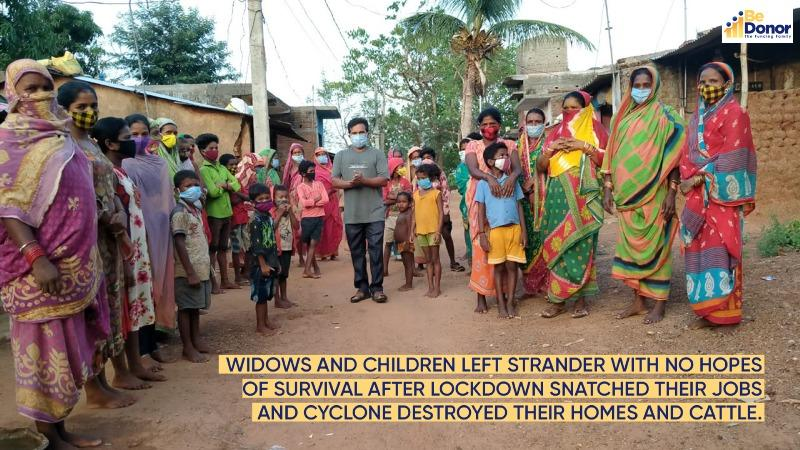 Families of 25 widows struggling for their lives amid lockdown and Cyclone Yaas