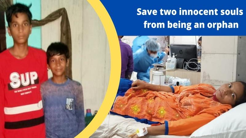 Help to save two innocent souls from being orphan